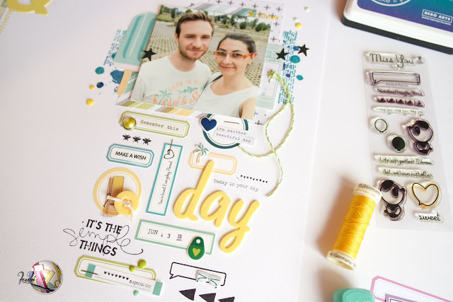scrapbooking layout | your day per Scrappiamo Insieme by kushi