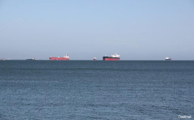 Navires dans la Baie de San-Francisco