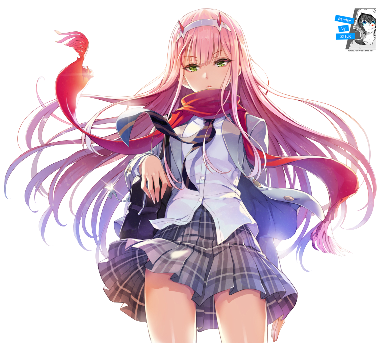 Render Zero Two SCHOOL