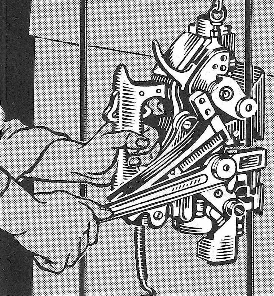 a crate strapping tool illustrated