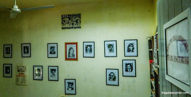Sala dedicada aos 56 jovens de Misiones desaparecidos durante a ditadura argentina no Museu de Che Guevara, em Caraguatay