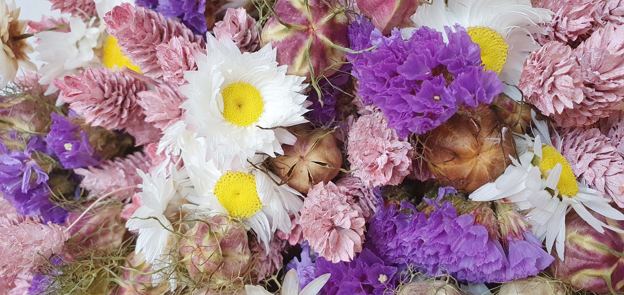 entretenir un bouquet de fleurs séchées