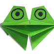 Fun Origami: Croaking Frog ~ Paper Origami Folding Diagram