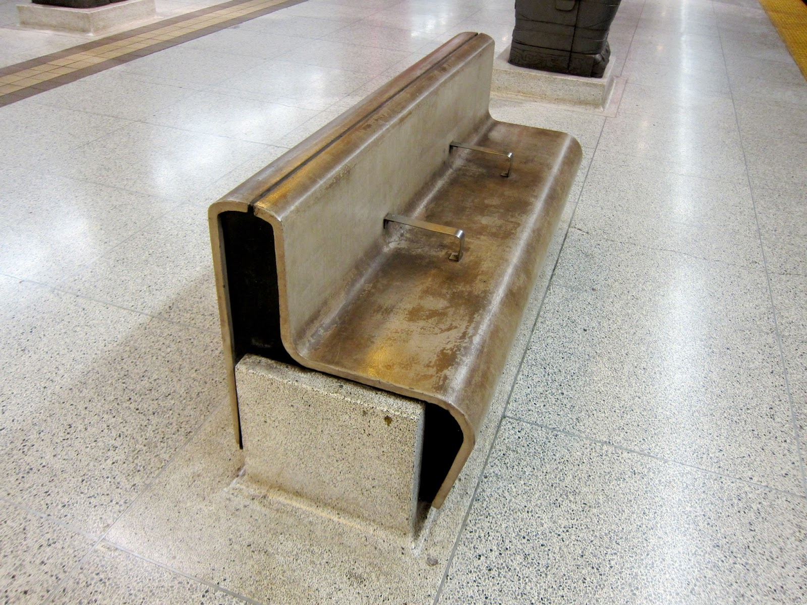 Bench at Museum subway station