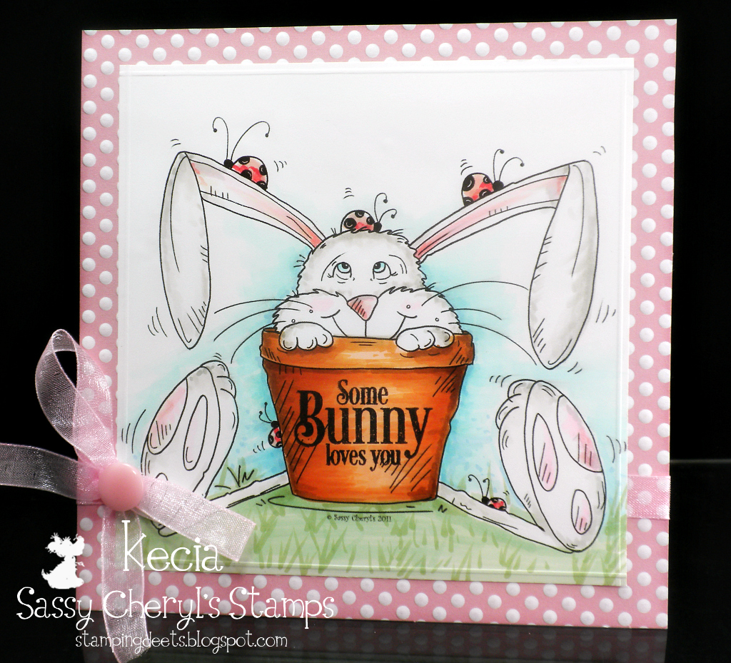 Sassy Cheryl's, Kecia Waters, Copic markers, Easter bunny
