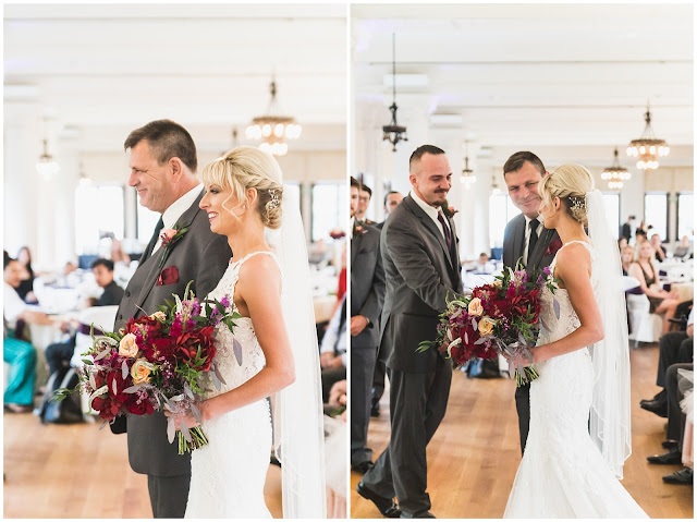 photos of bride and father