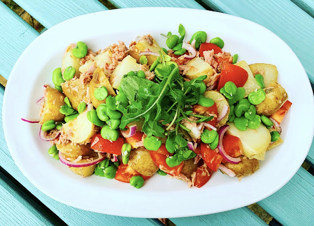 Broad Bean, New Potato & Tuna Salad