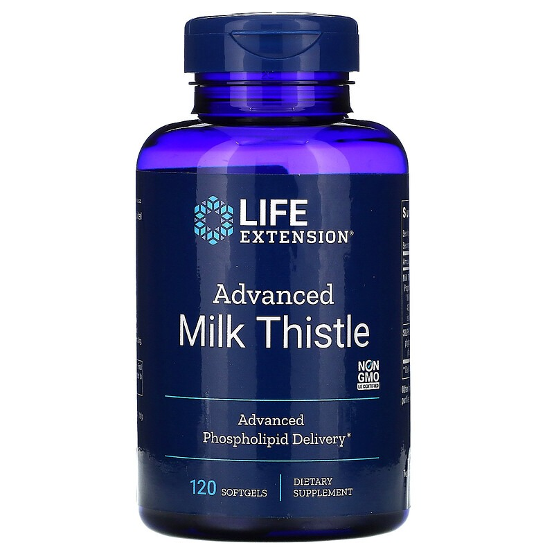 Life Extension, Advanced Milk Thistle, 120 Softgels