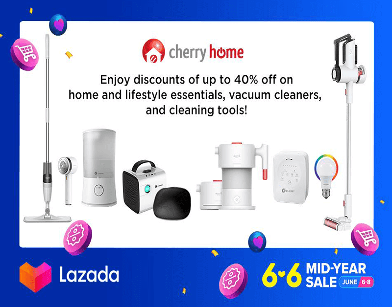 You can also avail Cherry Home products for less in Lazada