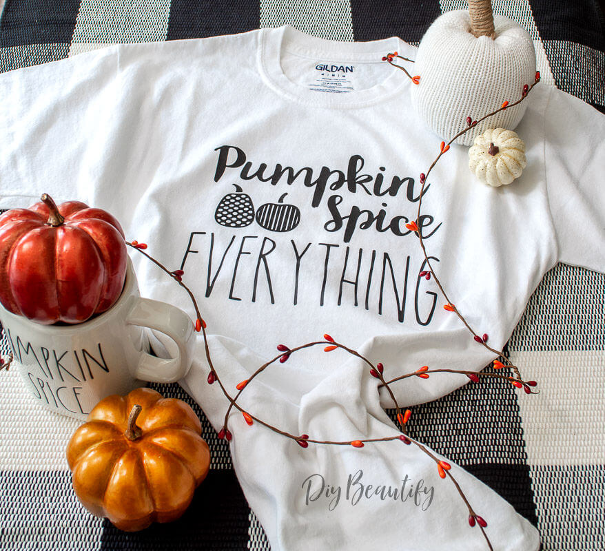 Fall t shirt pumpkin spice