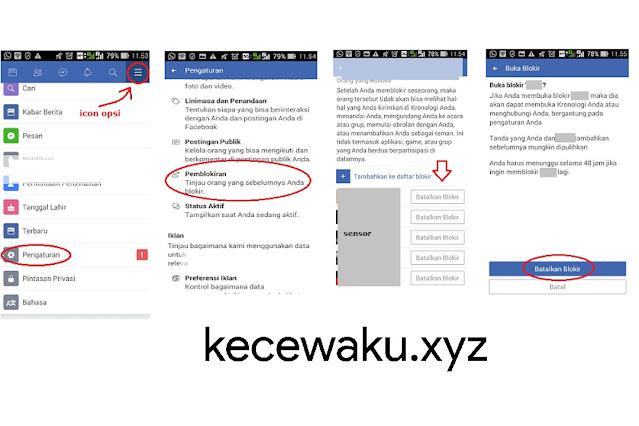 Cara Membuka Blokir Teman di Facebook Lite