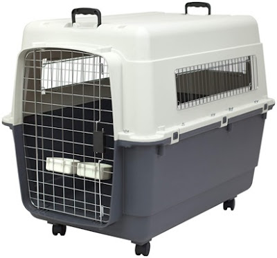 Sport Pet Designs Rolling Plastic Air Travel Crate