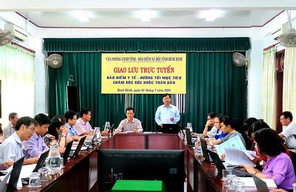 Binh Dinh: Giao luu truc tuyen ve chinh sach BHYT, BHXH
