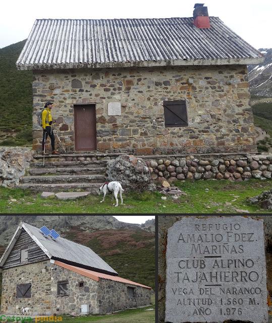 En el Refugio Tajahierro en la Vega del Naranco