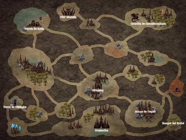 Aventura para D&D - El Espejo de Malar - Mapa de la Infraoscuridad
