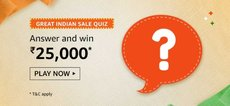 Amazon Great Indian Sale Quiz Answer - Win Rs.25000