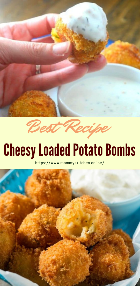 Cheesy Loaded Potato Bombs #healthyfood #dietketo #breakfast #food