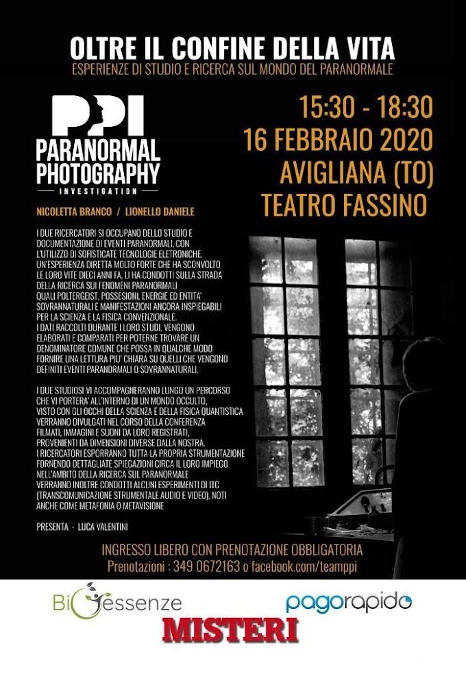 """""""Oltre il confine della vita"""": il 16 febbraio ad Avigliana la conferenza su """"Parapsicologia e Paranormale"""""""