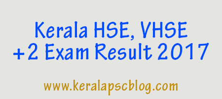 Kerala Higher Secondary Plus Two (+2) March 2017 results