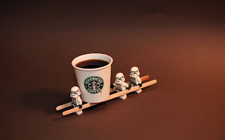 Lego Stormtroopers Carrying Starbucks Coffee Funny HD Wallpaper