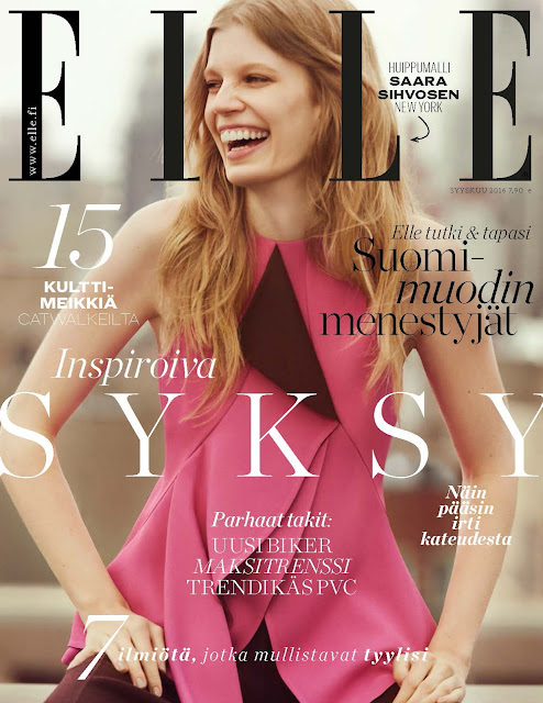 Fashion Model, @ Saara Sihvonen -  ELLE Finland, September 2016