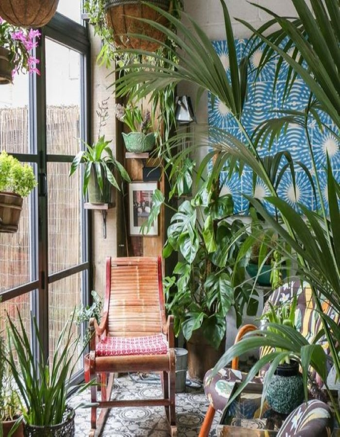 Give me all the plants-perfect spot to unwind- designaddictmom