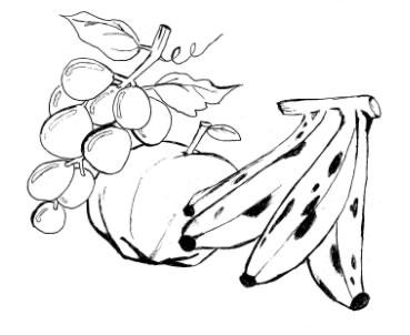 Baú da Web: Desenhos de Frutas para Colorir