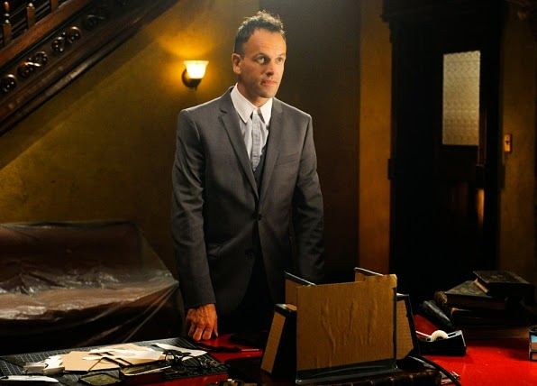 Jonny Lee Miller as Sherlock Holmes in CBS Elementary Season 3 Episode 1 Enough Nemesis To Go Around