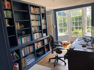 The study decorated in Farrow & Ball paint