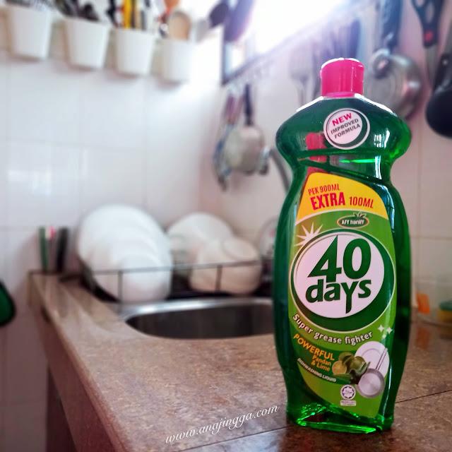 Pencuci pinggan mangkuk 40 DAYS Afy Haniff