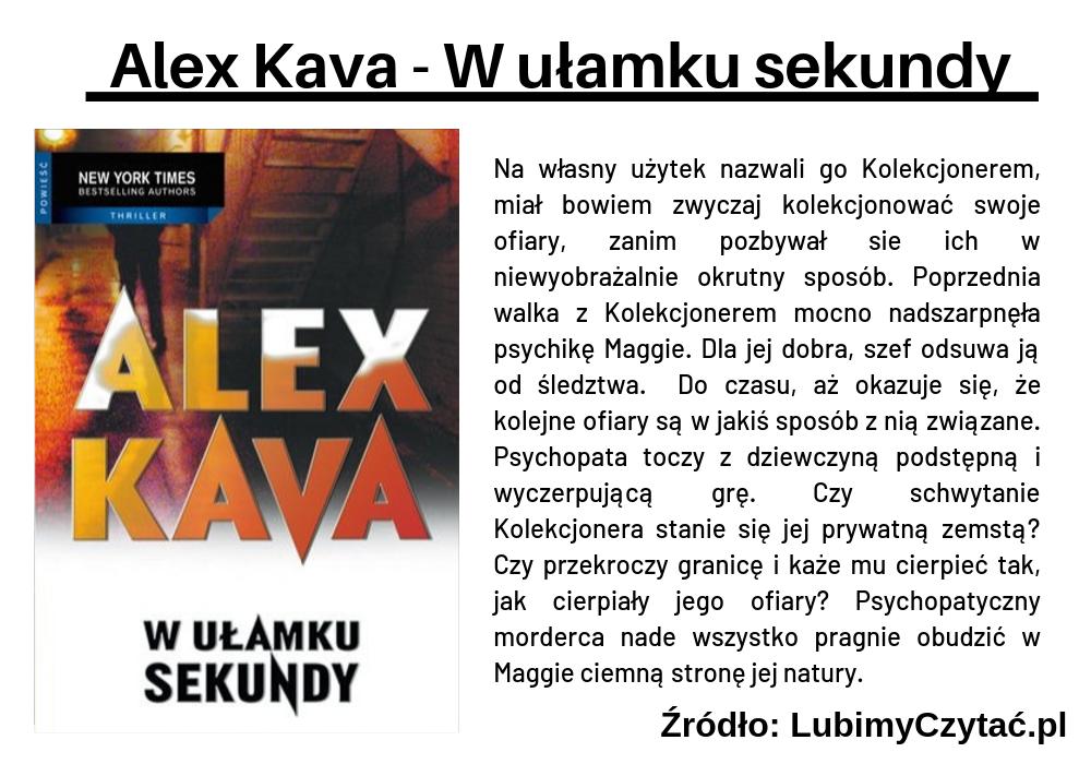 Alex Kava - W ułamku sekundy, Topki, Marzenie Literackie