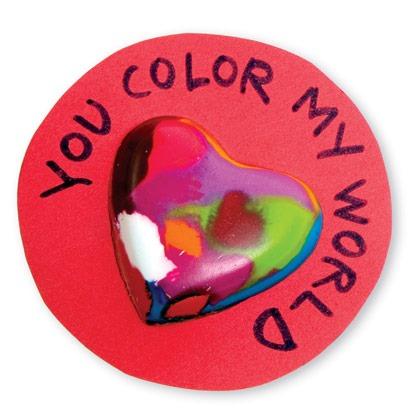 Valentine's Day Craft: Crayon Hearts