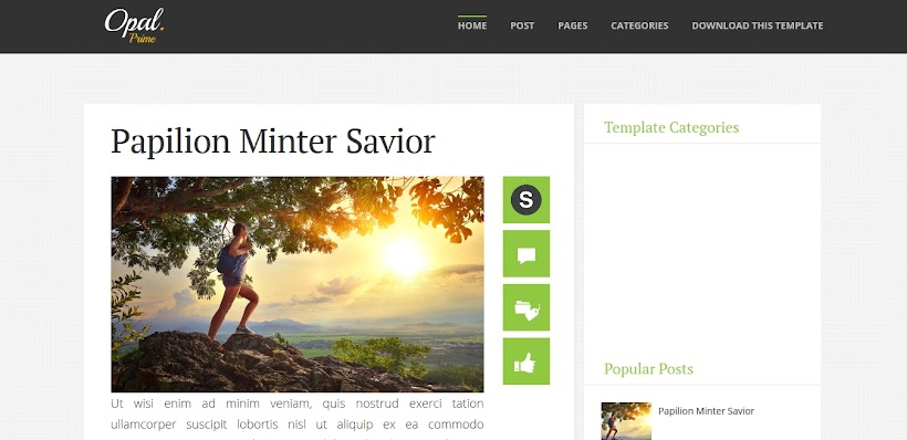 Opal Free Blogger Template