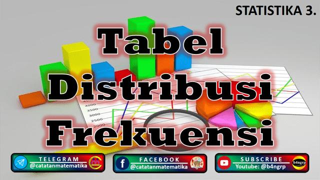 Penyajian Data dalam Bentuk Tabel Distribusi Frekuensi