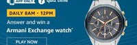 Amazon Quiz 3 December 2019 Answer Win - Armani Exchange Watch