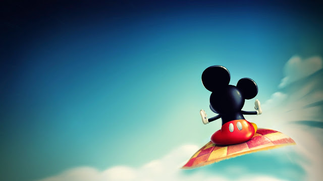 Papel de parede Mickey Mouse no Tapete Voador