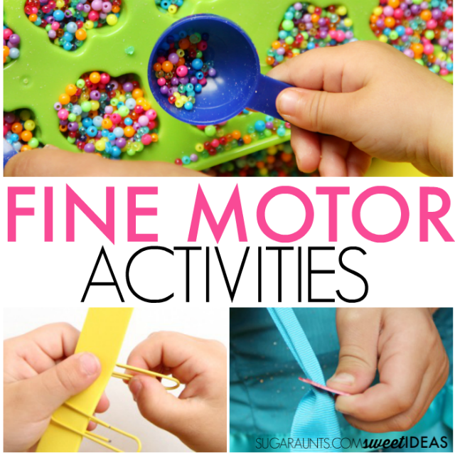 Fine motor activities for kids to help develop skills