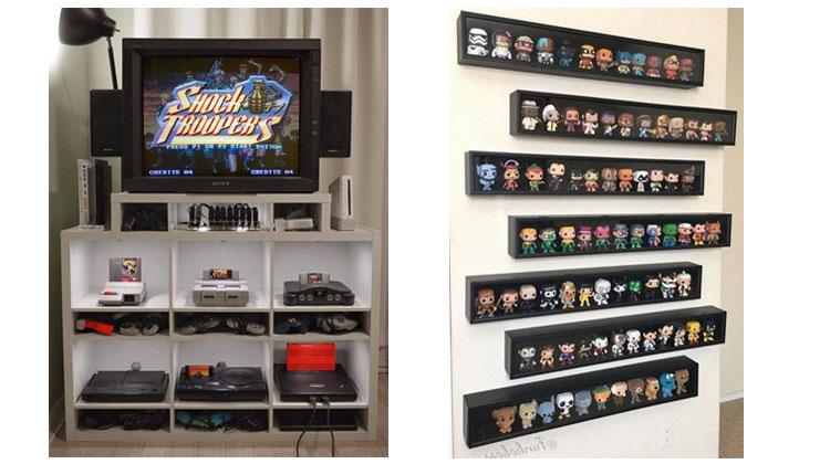 Videojuegos clásicos y muñecos de Funko... ¡vaya colecciones!