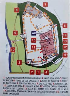 Plano del Castillo Templario de Ponferrada