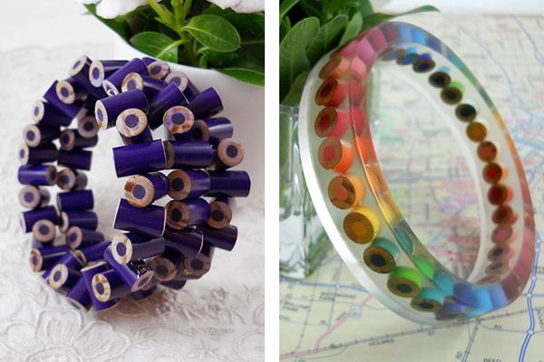 кольца из цветных карандашей