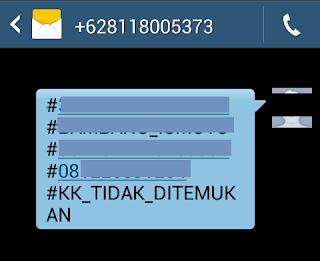 Format SMS ke Dukcapil