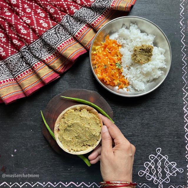 Kothavarangai Thogayal/Cluster Beans Thogayal by Masterchefmom