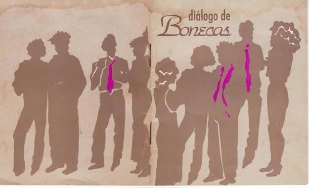 """Capa do 1º Bajubá """"Diálogos de Bonecas"""" lançado em 1992"""