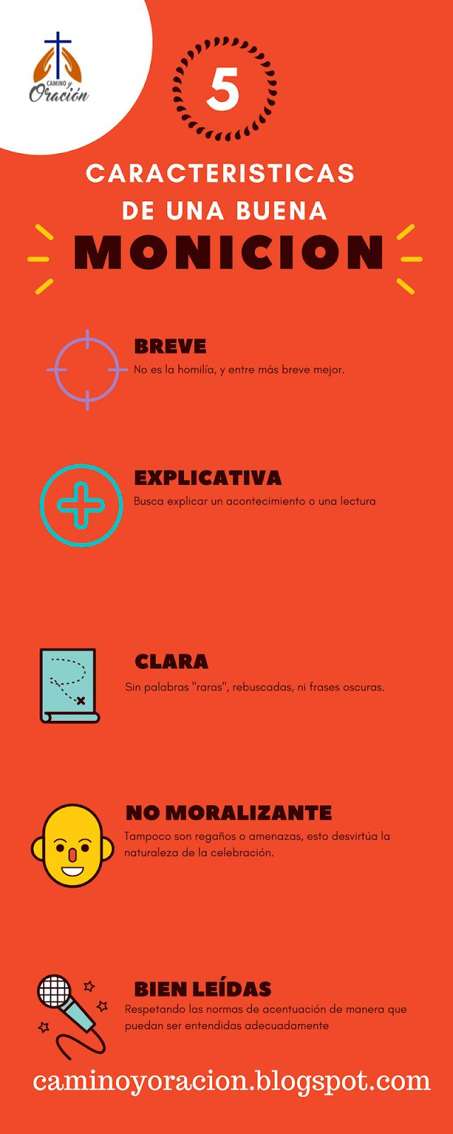 Cinco caracteristicas de la monición