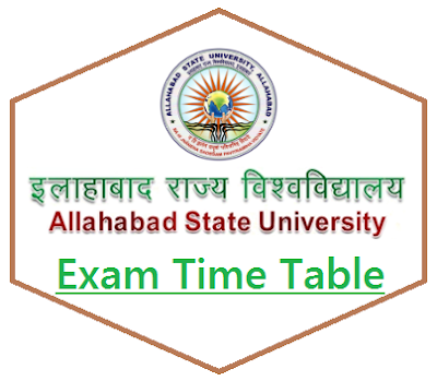 ASU Allahabad Time Table 2019
