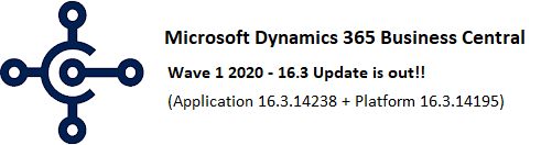 Microsoft Dynamics Business Central - 16.3 is out