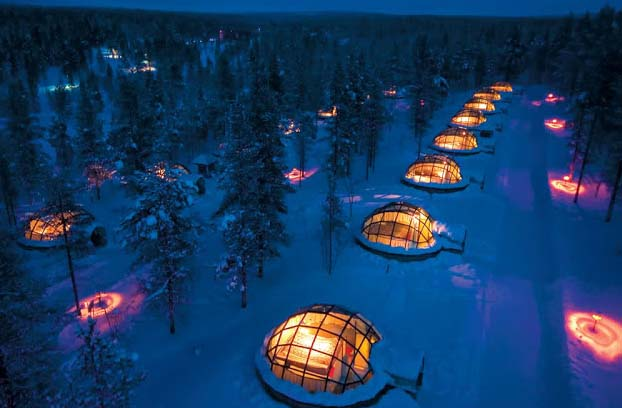 Unbelievable snow igloos are small ice hotels, where guests can enjoy warmth even in an incredible chilly place. Most astonishingly, you can appreciate the starry sky and Northern Lights from the glass igloos. The hotel is located just about at the northern tip of Europe appears to be as some science fiction garrison constructed on the world's edge to endure its downfall, but in fact it is simply a soothing small spot to relish the attractiveness it surrounds.