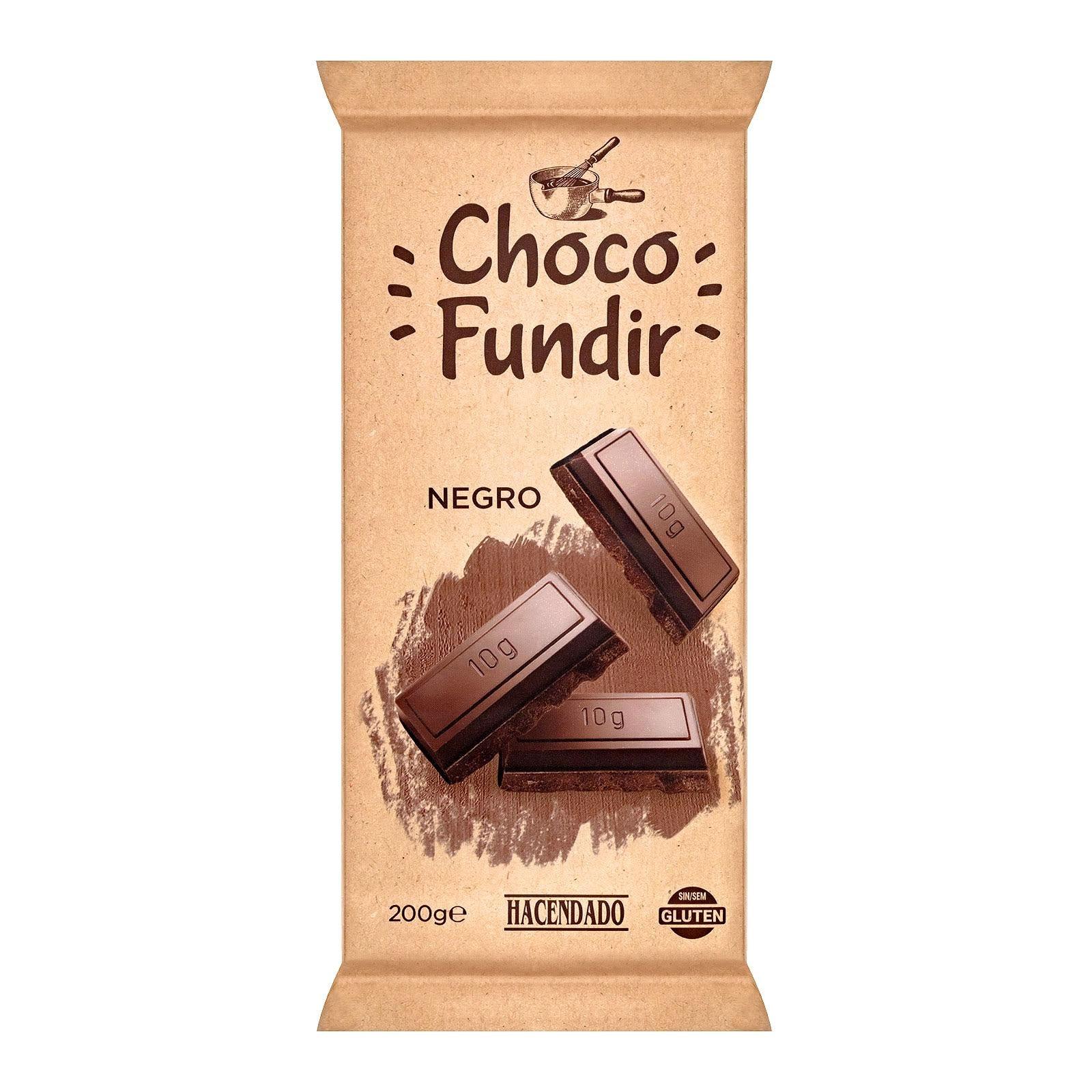 Chocolate negro para fundir Hacendado