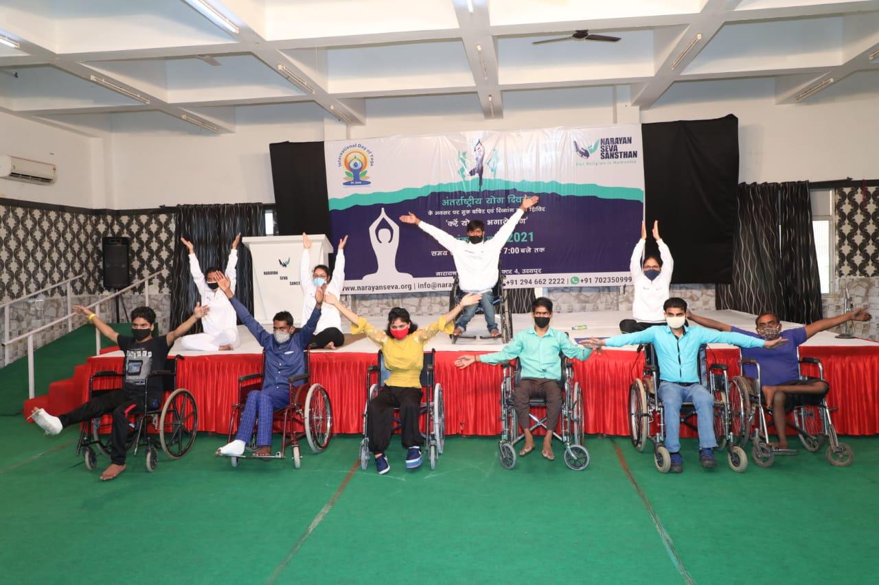 Divyang performs yoga on International Yoga Day
