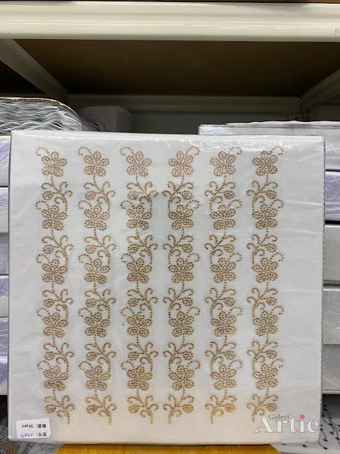 Sticker hotfix rhinestone DMC 6 jalur aplikasi tudung, bawal & fabrik pakaian bunga lingkaran pohon